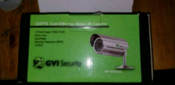 2 Security day and night camera.
