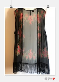 women's black and red floral sleeveless dress Los Angeles, 90022