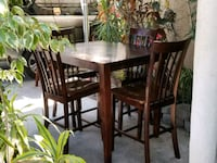 brown wooden dining table set Los Angeles, 90061