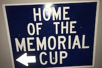 Home of the memorial park sign