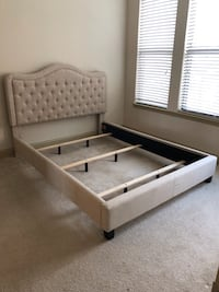 Queen Bedframe & low profile box spring