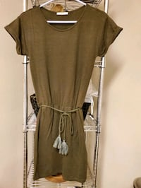 Womens army green casual mini dress Small Midwest City, 73130