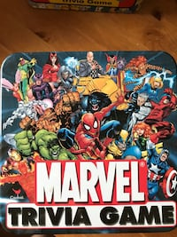 Marvel Trivia board game tin