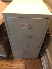 Two Drawer metal filing cabinet with lock Great Falls, 22066