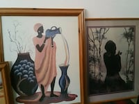 two woman and woman painting with brown wooden frames London, N9 7JD