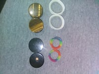 four pairs of ear gauge tunnels New Iberia, 70563