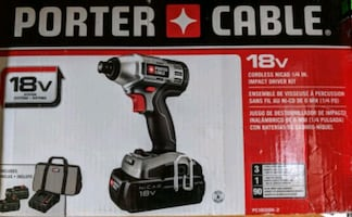 New Porter Cable PCL180ID 18V 1/4 Hex Impact Driver & 2 PC18AL Lights