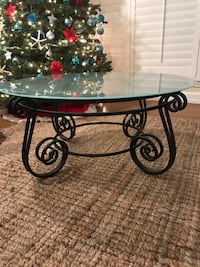 Frost Glass  Iron Coffee  Table