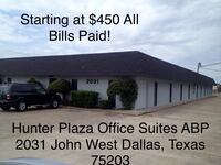 COMMERCIAL Office Space For Lease! ALL BILLS PAID!!! Dallas
