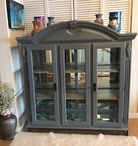 Silver/Gray lighted display cabinet with mirrors and custom paint Arvada, 80005