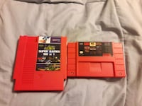 Nes and Snes super cartrages Burke
