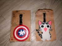 1 Luggage Tags Cat or Captain America NEW Manchester, 03103