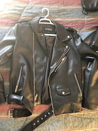 Guess leather jacket  905 mi