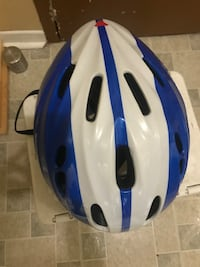 white and blue bicycle helmet Toronto, M1E 4R1