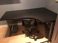 black wooden desk with chair Vaughan, L4J 3N8