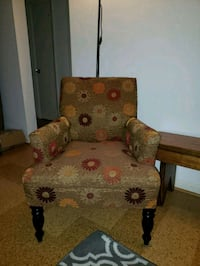 brown and green floral sofa chair Alexandria, 22315