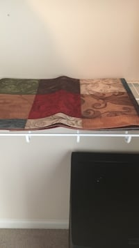 brown, maroon and green table runner Herndon, 20170