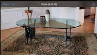 Antique glass table