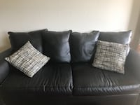 Black leather couch  Hawthorne