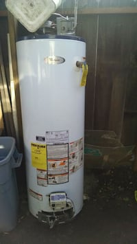 white and gray water heater RIVERBANK