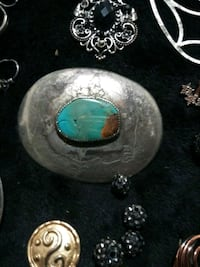 Sterling silver and turquoise belt buckle Santa Fe, 87508