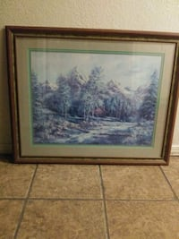 31 x 26 cabin.in mountains art frame Strathmore, 93267