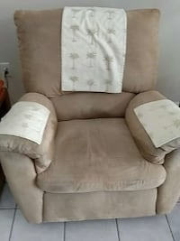 brown suede sofa chair Spring Hill, 34609