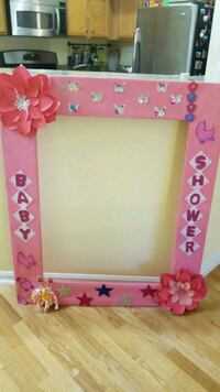 pink and white wooden photo frame Centreville, 20120