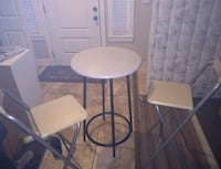 Ikea breakfast high table with 2 folding chairs Surrey, V4N