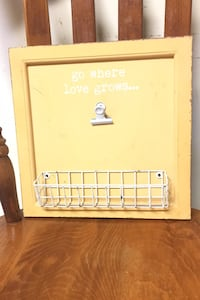 Go Where Love Grows...  Wall Decor   With Clip and Basket
