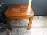 square brown wooden side table Aurora, L4G 3M1