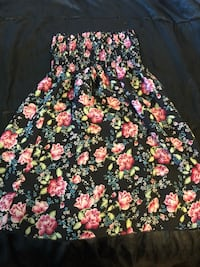 black and pink floral sleeveless dress East Wenatchee, 98802