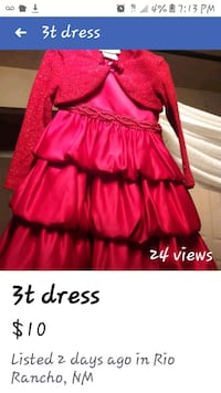 3t dress with cover up