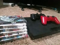 NEGOTIABLE Ps3 slim bundle with 7 games and 2 controllers Chantilly, 20152