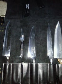 black and gray kitchen knife set Ashburn, 20147