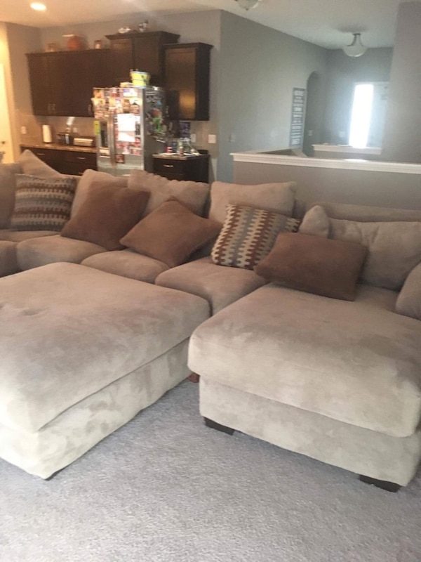Wondrous Henderson 3 Piece Sectional Sofa And Ottoman In Baccarat Taupe Onthecornerstone Fun Painted Chair Ideas Images Onthecornerstoneorg