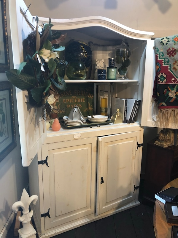 White Wood Armoire 2