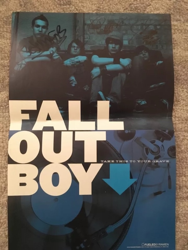 Signed Fall Out Boy Poster
