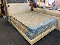 New Beige Queen Size Upholstery Platform Bed Framep Virginia Beach, 23462