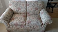 white and pink floral fabric loveseat Mesa