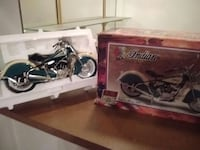 blue indian motorcycle diecast model with box Pomona, 91766