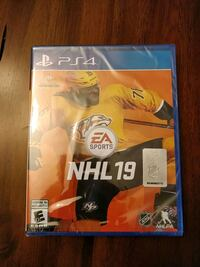 NHL 19 for PS4 factory sealed Waterloo, N2K 4A1