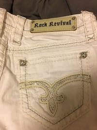 white rick revival jean shorts