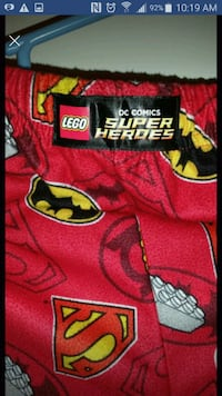 Boys 10/12 DC comics lego bottoms