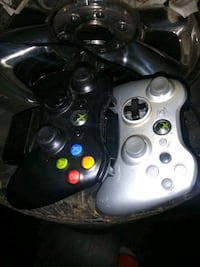 Xbox controllers and charging station
