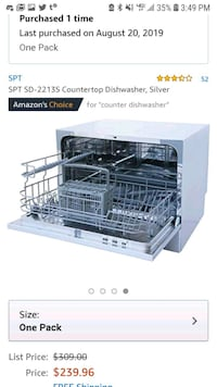 SPT SD-2213S Countertop Dishwasher, Silver   Montclair, 07043