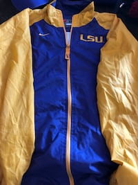blue and yellow Nike LSU zip-up sweat jacket Shreveport, 71105