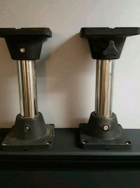 two black-and-silver pipe stand stools Duncan, V9L 1M8