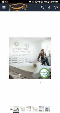 King Size Memory Foam Mat + Cover Upland, 91784