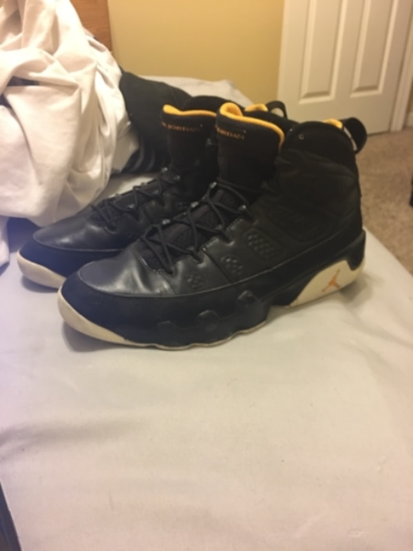 e7d6eaa9b6d2 Used Air jordan 9 retro black and yellow size 12 for sale in STOCKBRIDGE